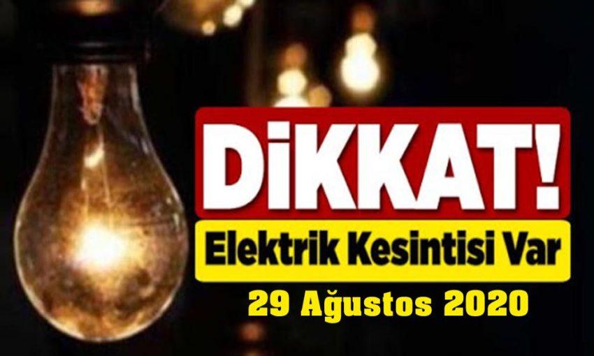 29 Ağustos elektrik kesintileri