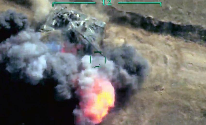 Füze sistemleri, tankı, topu imha edildi