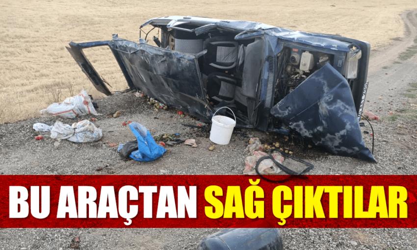 Karaman'da feci kaza! Bu araçtan sağ çıktılar