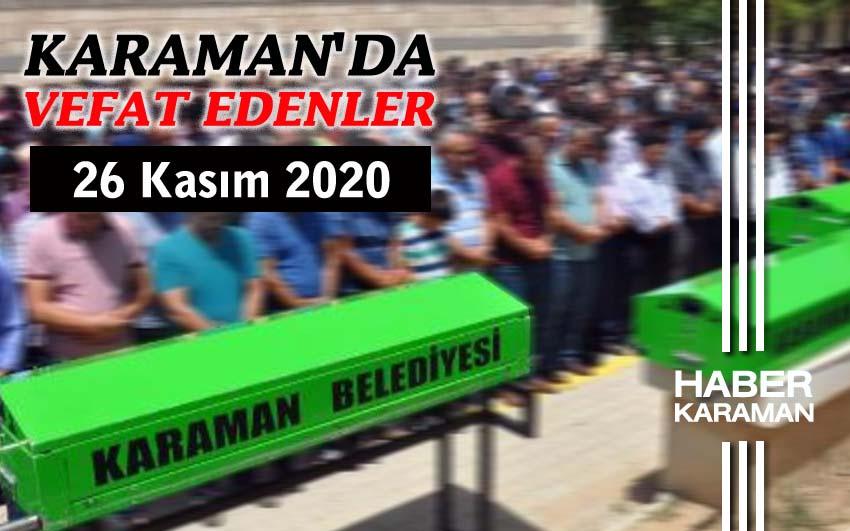 Karaman'da 4 kişi vefat etti