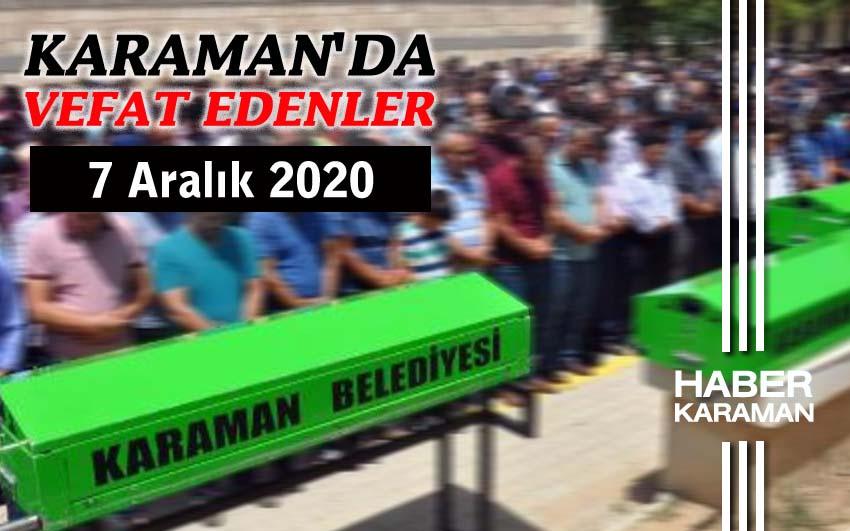 Karaman'da 5 kişi vefat etti