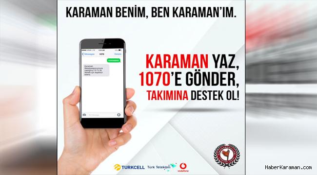 Karaman Belediyespor Yönetimi SMS Kampanyası İçin Destek İstedi